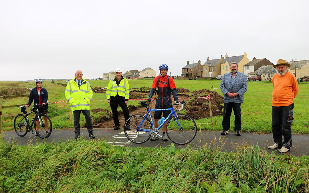 Work begins on New Cycleway for Solway Coast